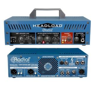 Radial Tonebone Headload V8 Guitar Amp Load Box, Front & Rear
