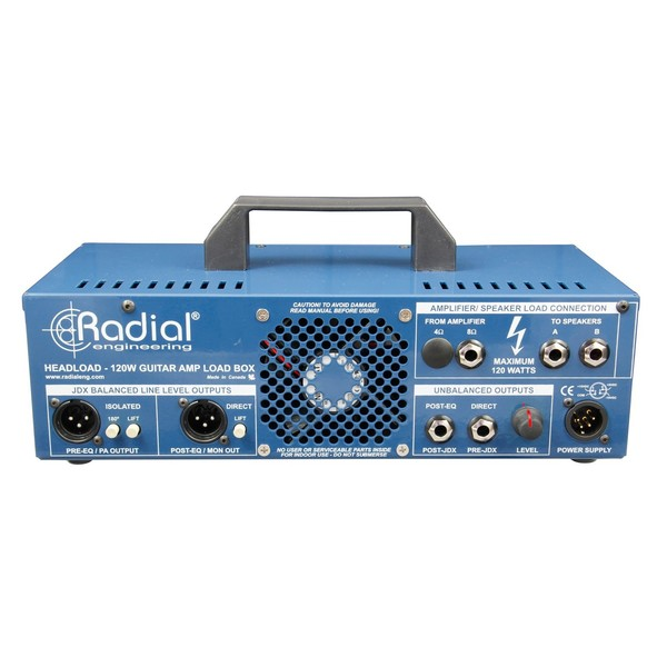 Radial Tonebone Headload V8 Guitar Amp Load Box, Rear