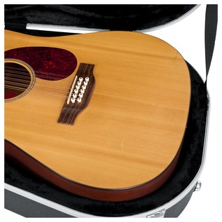 Gator GC-DREAD-12 Deluxe Moulded 12-String Dreadnought Guitar Case, Interior Close-Up