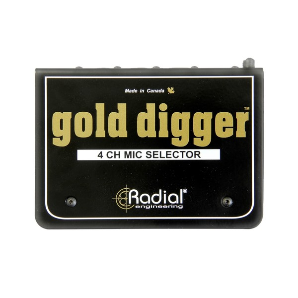 Radial Gold Digger 4-Channel Microphone Selector