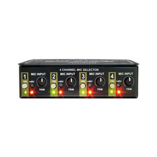 Radial Gold Digger 4-Channel Microphone Selector, Front