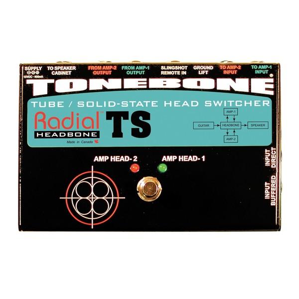 Radial Tonebone Headbone TS Tube/Solid-State Head Switcher, Top