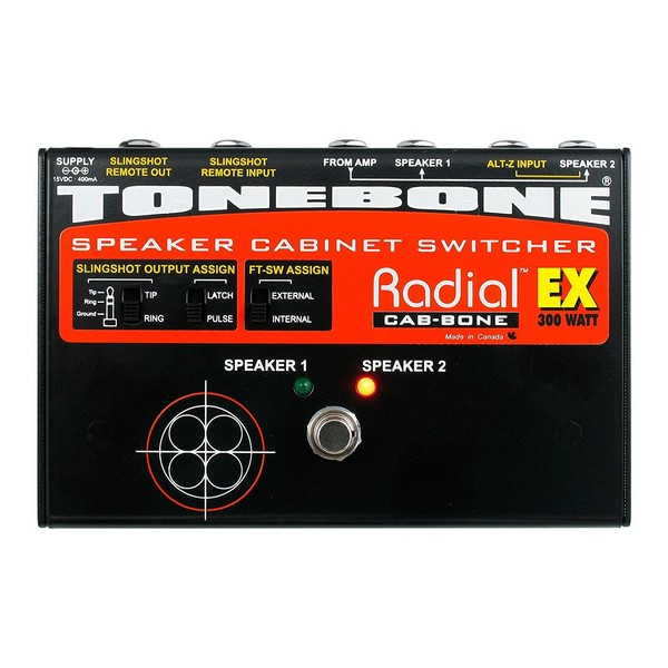 Radial Tonebone CabBone EX Speaker Cabinet Switcher, Top