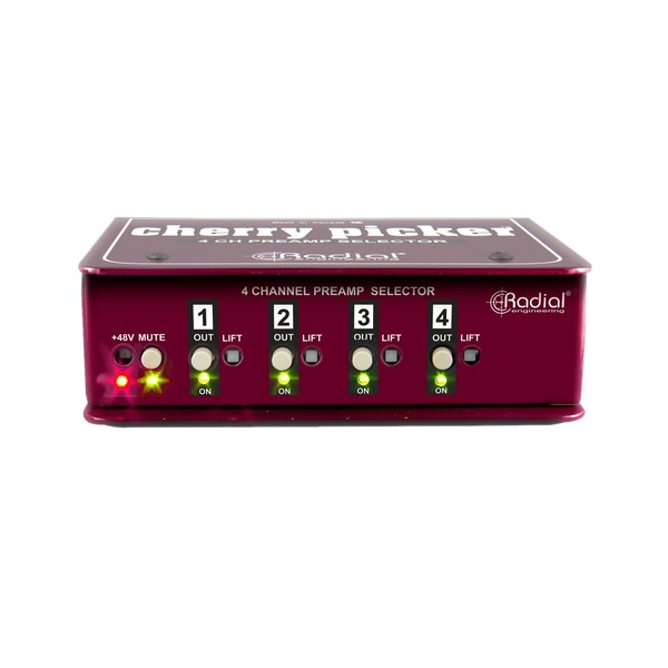 Radial Cherry Picker Studio Preamp Selector, Front