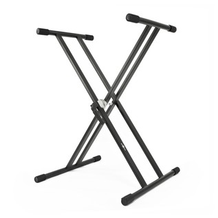 X-Frame Double Braced Keyboard Stand by Gear4music- Angled