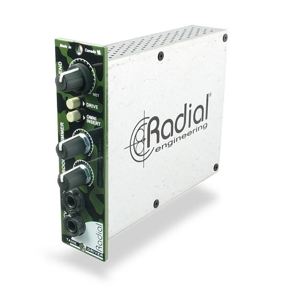 Radial Workhorse TankDriver Balanced Spring Reverb Interface, Front Angled