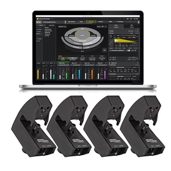 Sensory Percussion Drum Sensor Quad Kit with Software - Quad Bundle Shot
