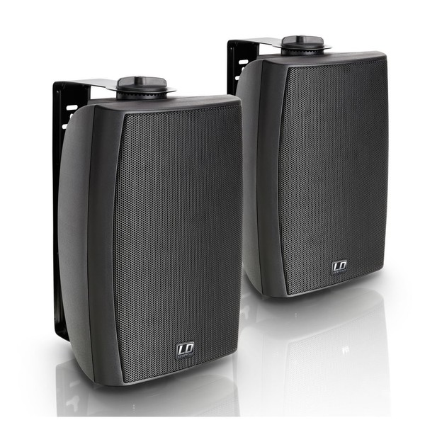 LD Systems Contractor CWMS52B Wall Mount 100V Speaker Pair, Black