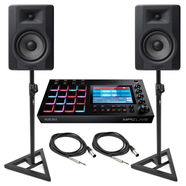 Akai MPC Live With M-Audio BX5 Studio Monitors and Stands - Bundle