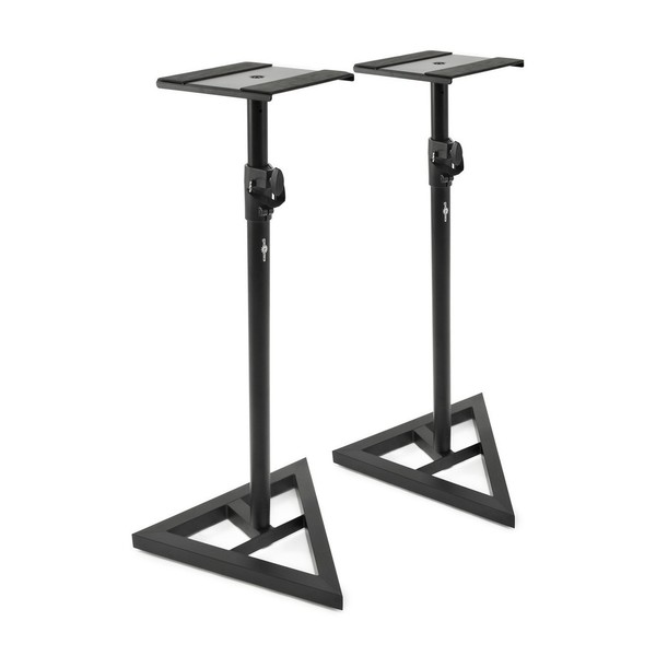 Studio Monitor Stands by Gear4music - Angled