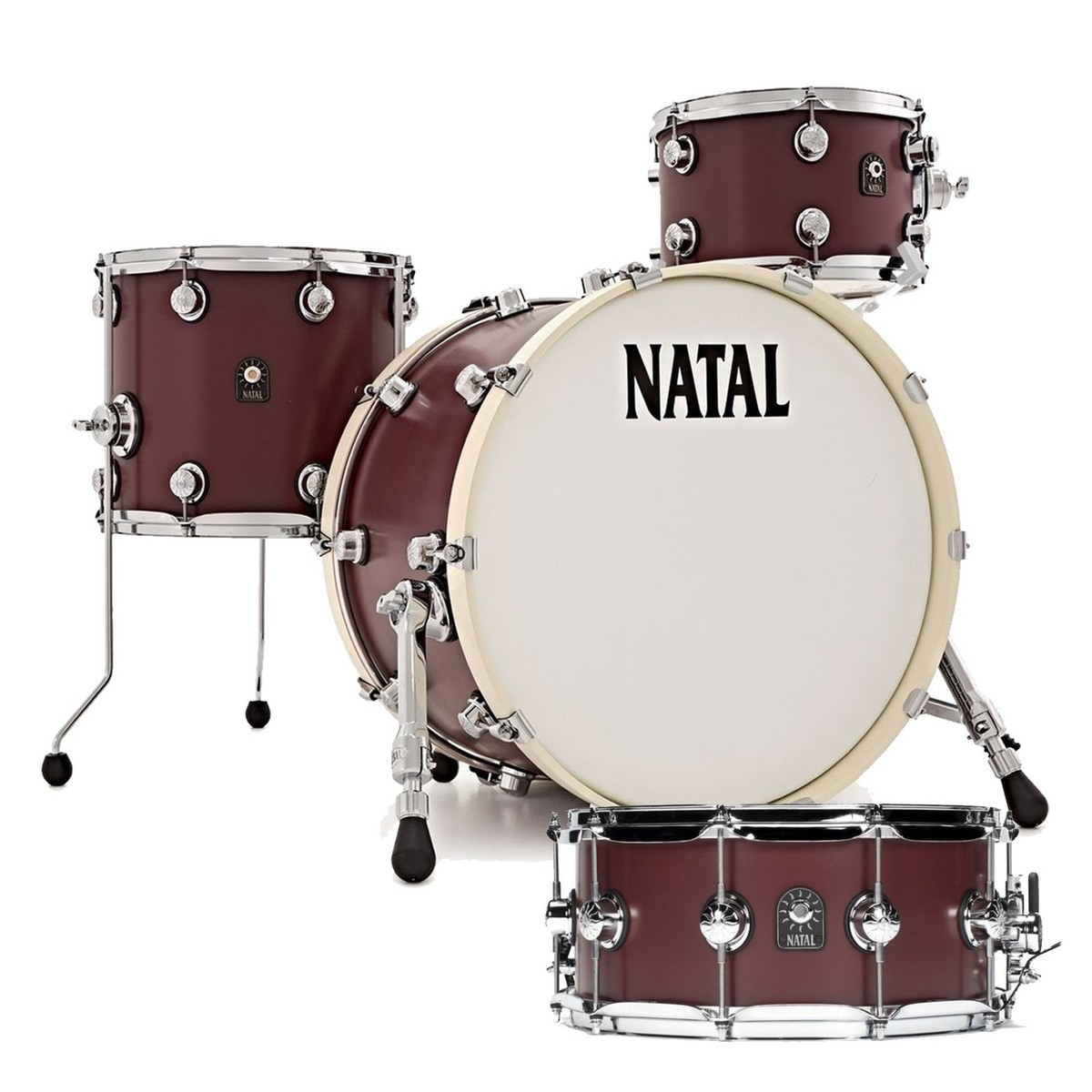 Natal - free matching snare drum with Cafe Racer drum kits