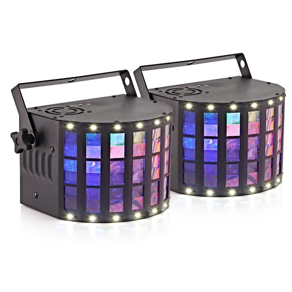 CLUSTER Derby Lights with Strobe by Gear4music, Pair