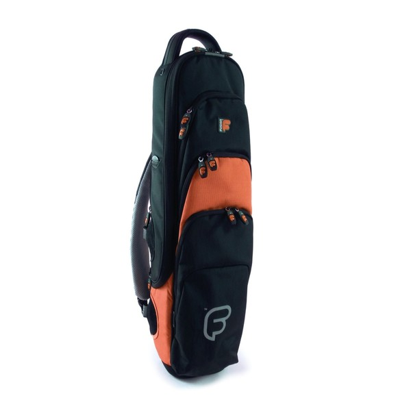 Fusion Premium Soprano Sax Gig Bag, Black and Orange