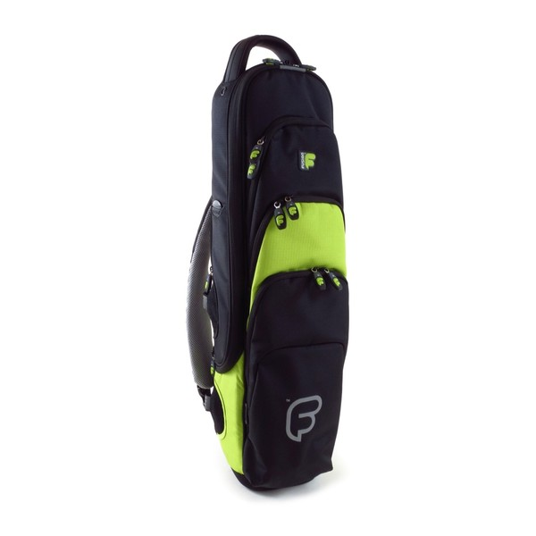 Fusion Premium Soprano Sax Gig Bag, Black and Lime