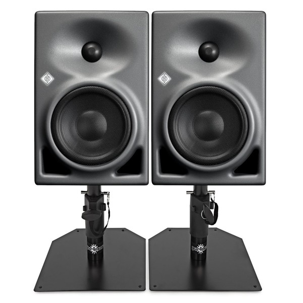 Neumann KH120A Active Studio Monitor Pair, with Monitor Stands - Bundle