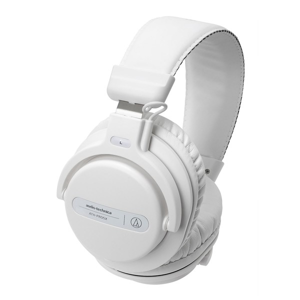 Audio Technica ATH-PRO5X DJ Headphones, White