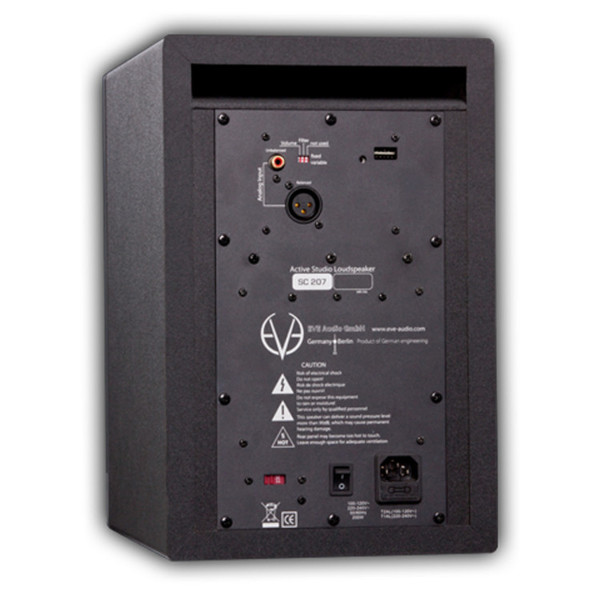 "Eve Audio SC207 2-Way 6.5"" Active Monitor (Back)"