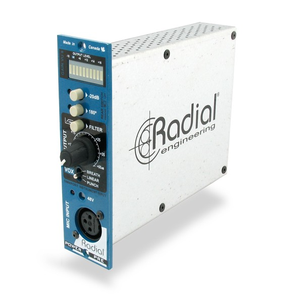 Radial Workhorse PowerPre 500 Preamplifier, Front Angled