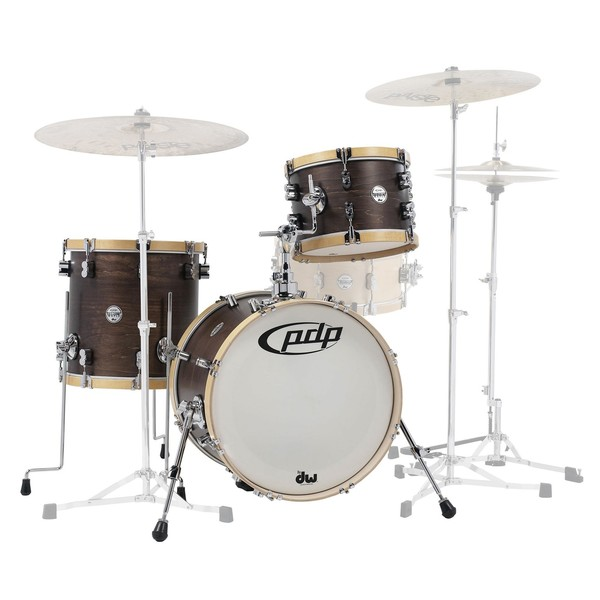 PDP Concept Maple Classic 18'' Shell Pack, Walnut w/ Natural Hoops