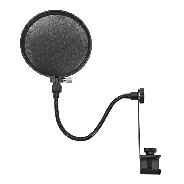 Microphone Pop Filter Shield for Mic Stand by Gear4music - Side