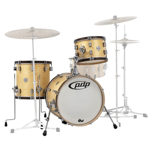 PDP Concept Maple Classic 18'' Shell Pack, Natural w/ Walnut Hoops