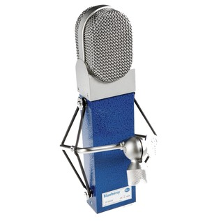 Blue Blueberry Microphone - Rear