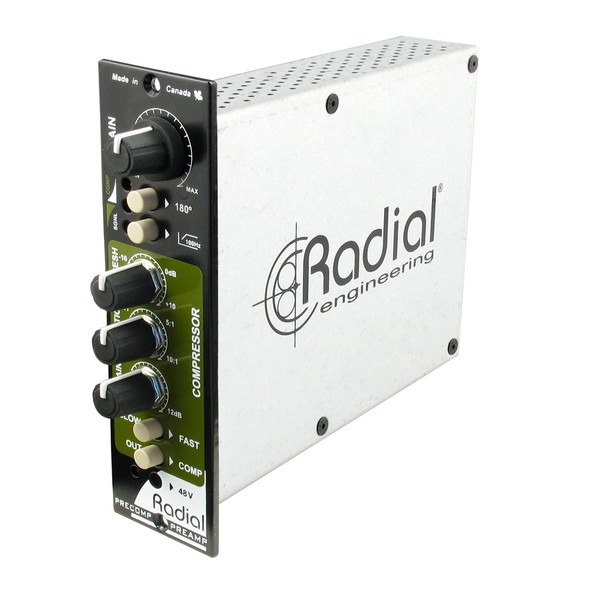 Radial Workhorse PreComp Preamplifier and Compressor, Front Angled