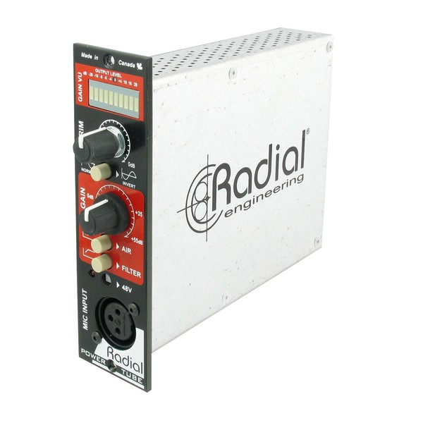 Radial Workhorse PowerTube Microphone Preamplifier, Front Angled