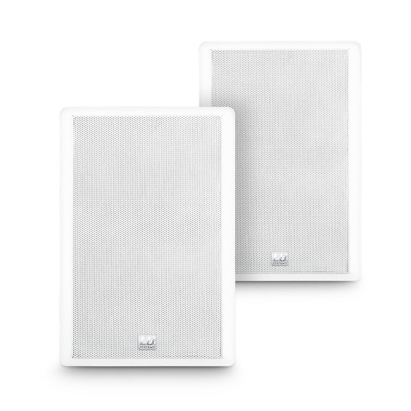 LD Systems Contractor Wall Mount Flat Speaker Pair, White
