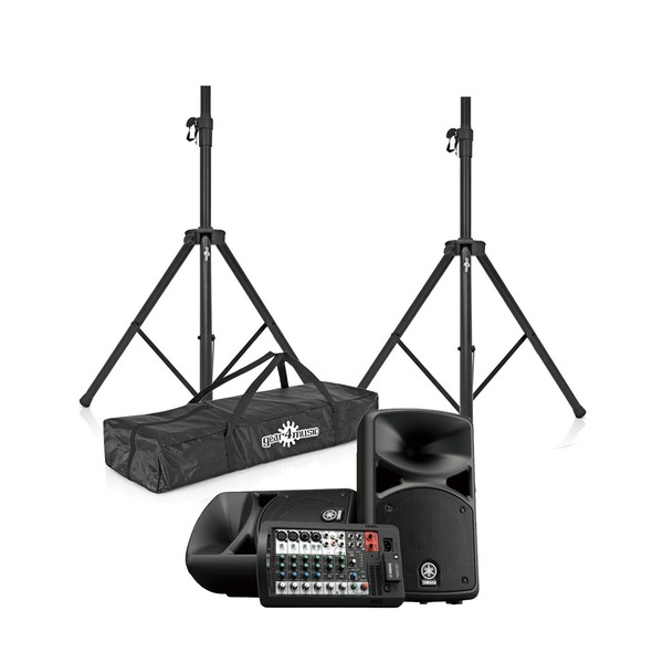 Yamaha Stagepas 400BT Portable PA System with Speaker Stands