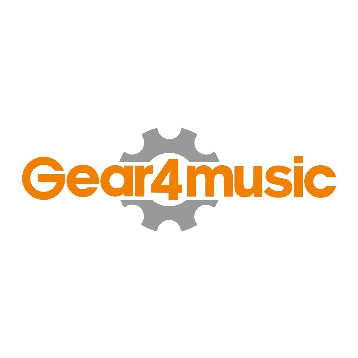 Luna Vintage Soprano Ukulele Black Satin Front