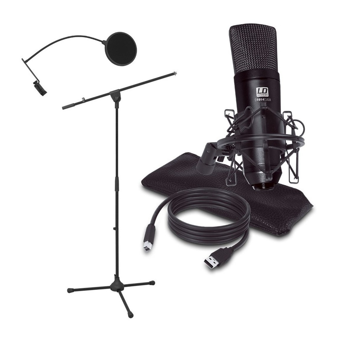 ld systems usb microphone podcast kit at gear4music. Black Bedroom Furniture Sets. Home Design Ideas