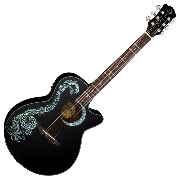 Luna Fauna Dragon Electro Acoustic Guitar Front View