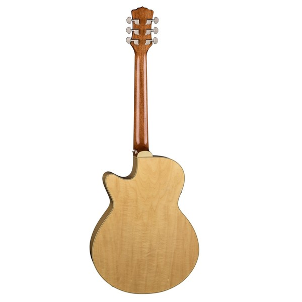 Luna Flora Rose Electro Acoustic Guitar Back View