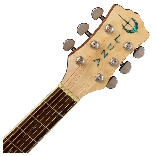 Luna Flora Rose Electro Acoustic Guitar Neck & Headstock