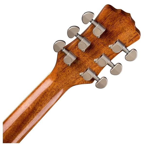 Luna Flora Rose Electro Acoustic Guitar Back of Neck View