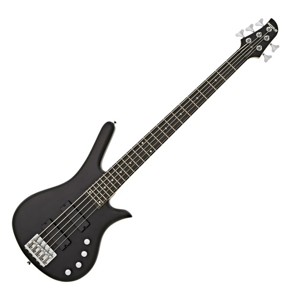 RedSub FN5 5 String Bass Guitar, Satin Black