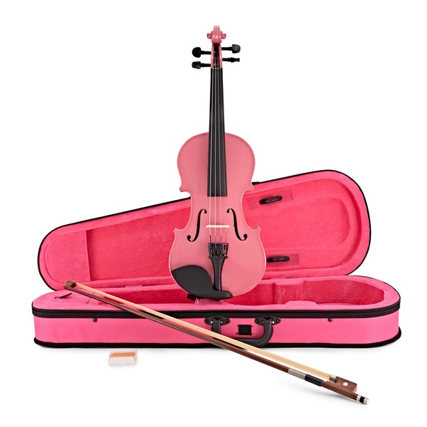 Student 4/4 Violin, Pink, by Gear4music