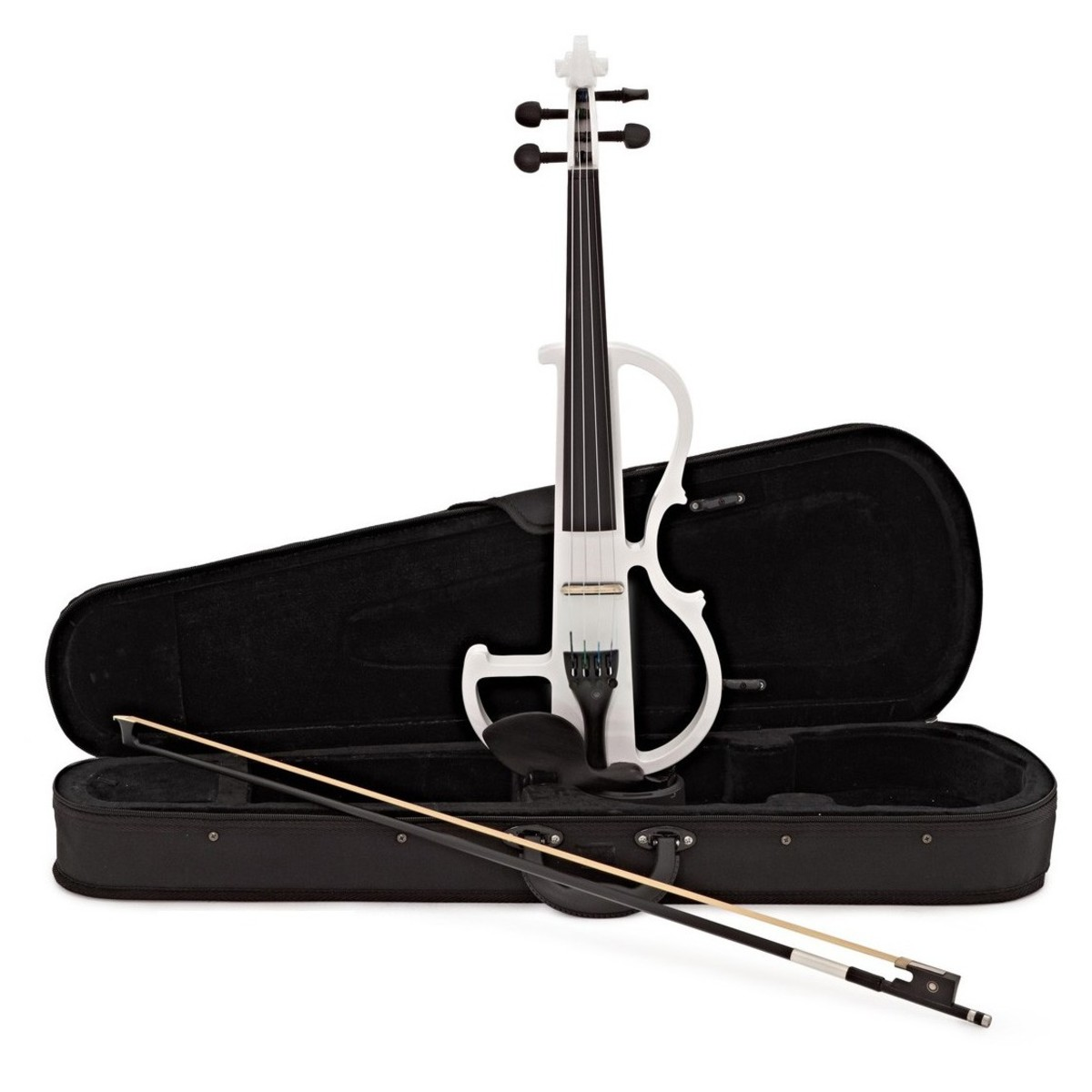 Click to view product details and reviews for Electric Violin By Gear4music White.