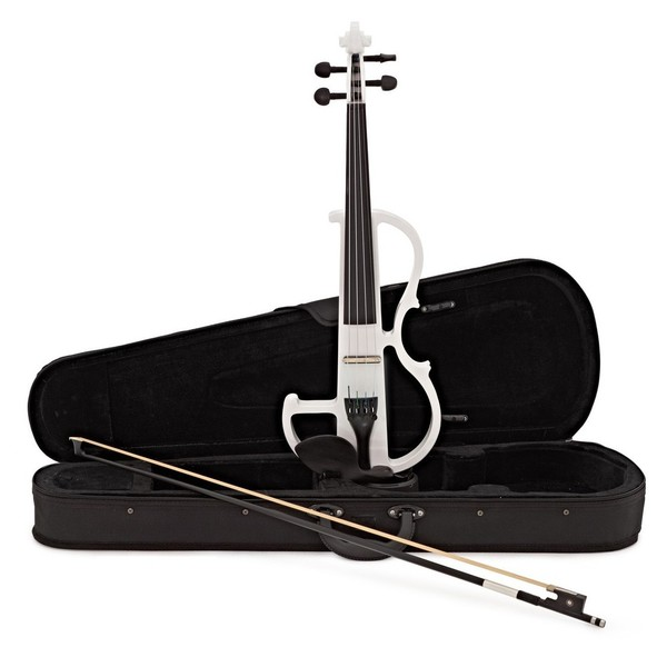 Electric Violin by Gear4music, White