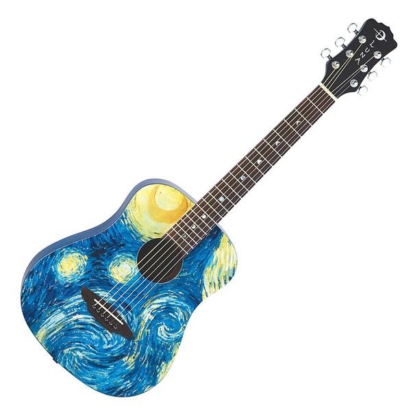 Luna Safari Starry Night Travel Guitar Front View