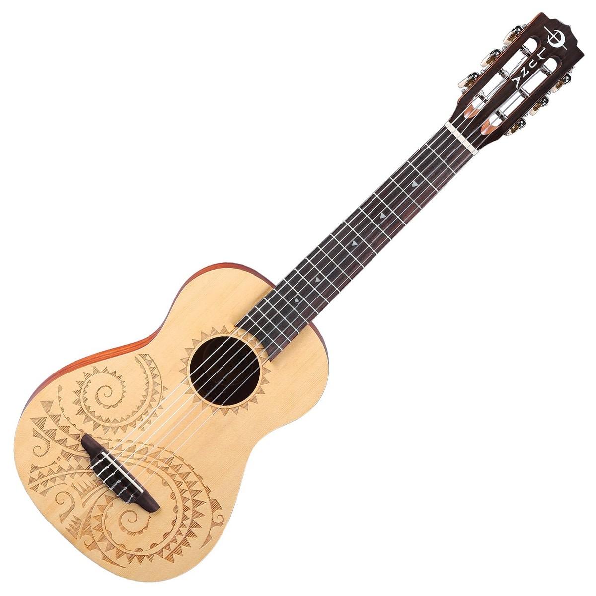 luna tattoo 6 string baritone ukulele at gear4music. Black Bedroom Furniture Sets. Home Design Ideas