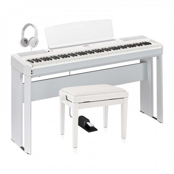 Yamaha P515 Digital Piano Package, White