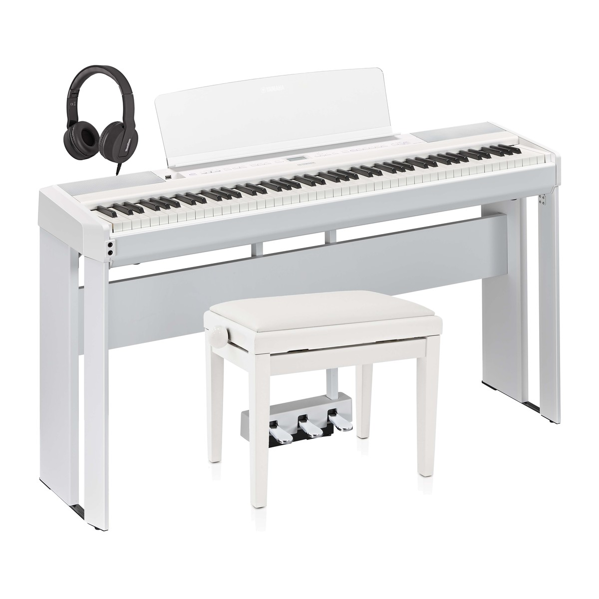 yamaha p515 digital piano pedal package white at gear4music. Black Bedroom Furniture Sets. Home Design Ideas