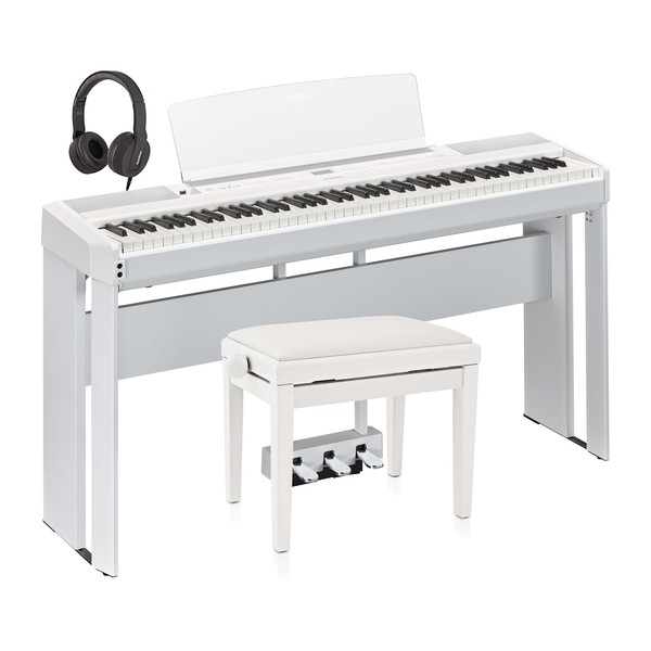 Yamaha P515 Digital Piano Pedal Package, White