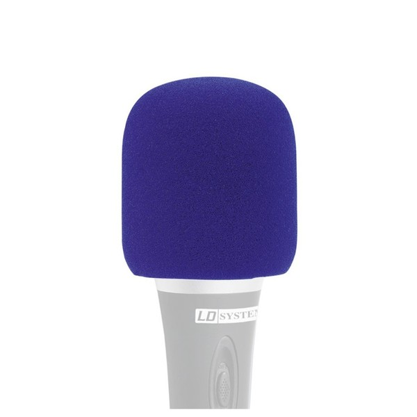 LD Systems Vocal Microphone Windscreen, Blue