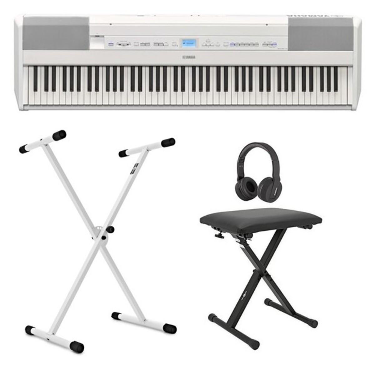 Yamaha P515 Digitalpiano-Paket mit X-Rahmen, Weiß bei Gear4music