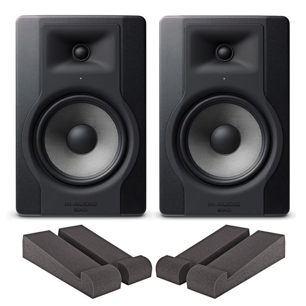 M-Audio BX8-D3 Pair with Iso Pads - Bundle
