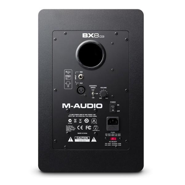 M-Audio BX8-D3 Active Studio Monitor - Rear