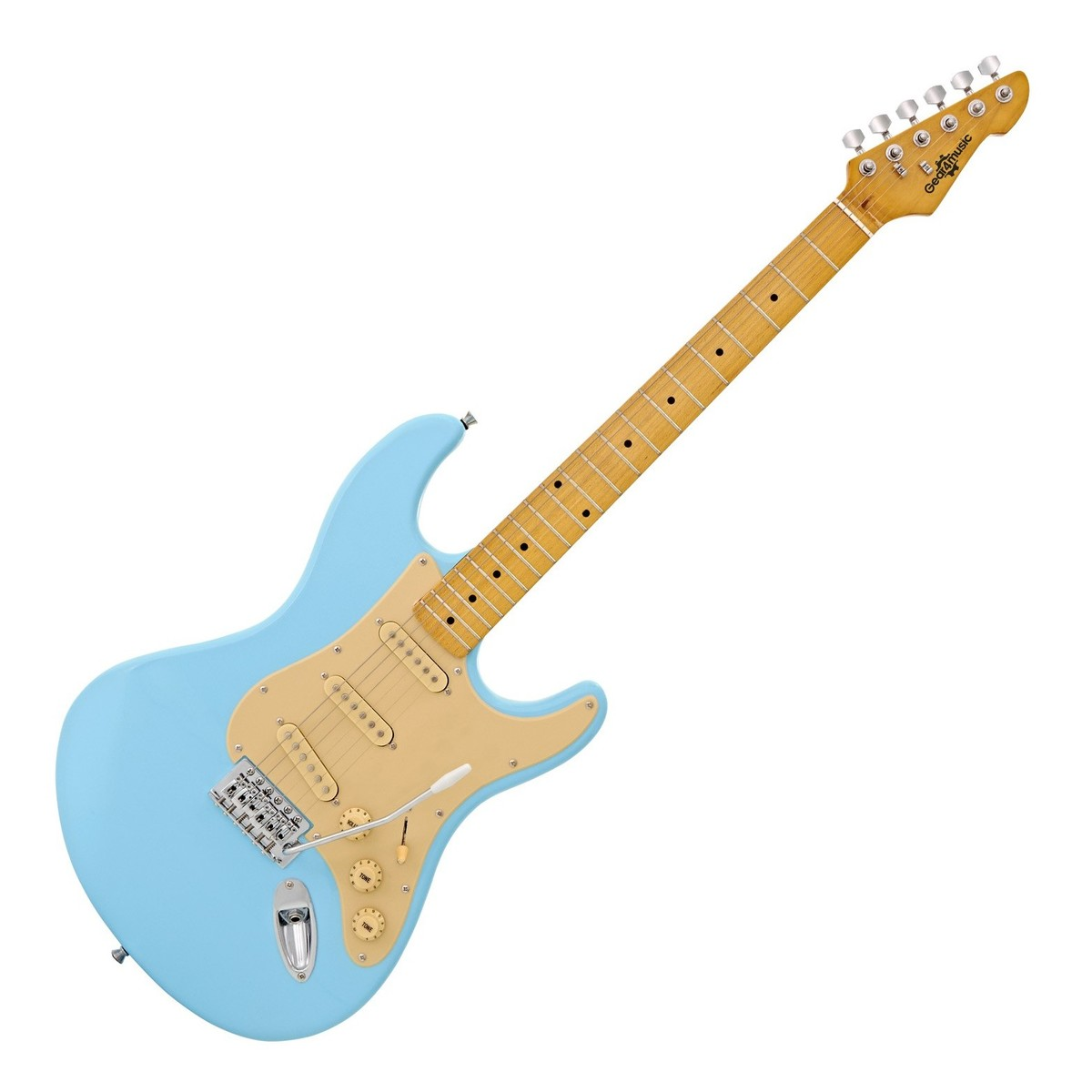 Click to view product details and reviews for La Ii Electric Guitar Sss By Gear4music Pelham Blue.